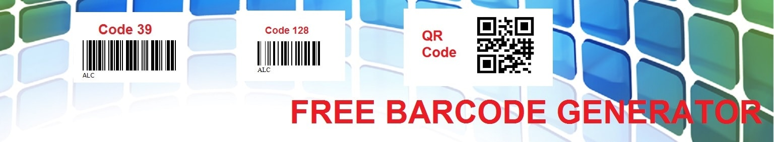 ALC provide you a free barcode generator software for your online barcode generation requirment, you can create the barcode in jpg, bmp, pdf, xls, HTML format.
